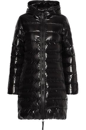 Black · DUVETICA WOMAN ACE QUILTED SHELL HOODED DOWN COAT ...