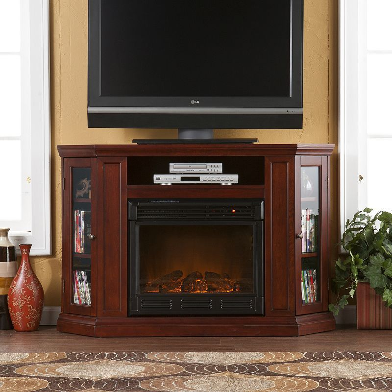 Awe Inspiring Abbey Cherry Finish Convertible Media Console Electric Home Interior And Landscaping Oversignezvosmurscom