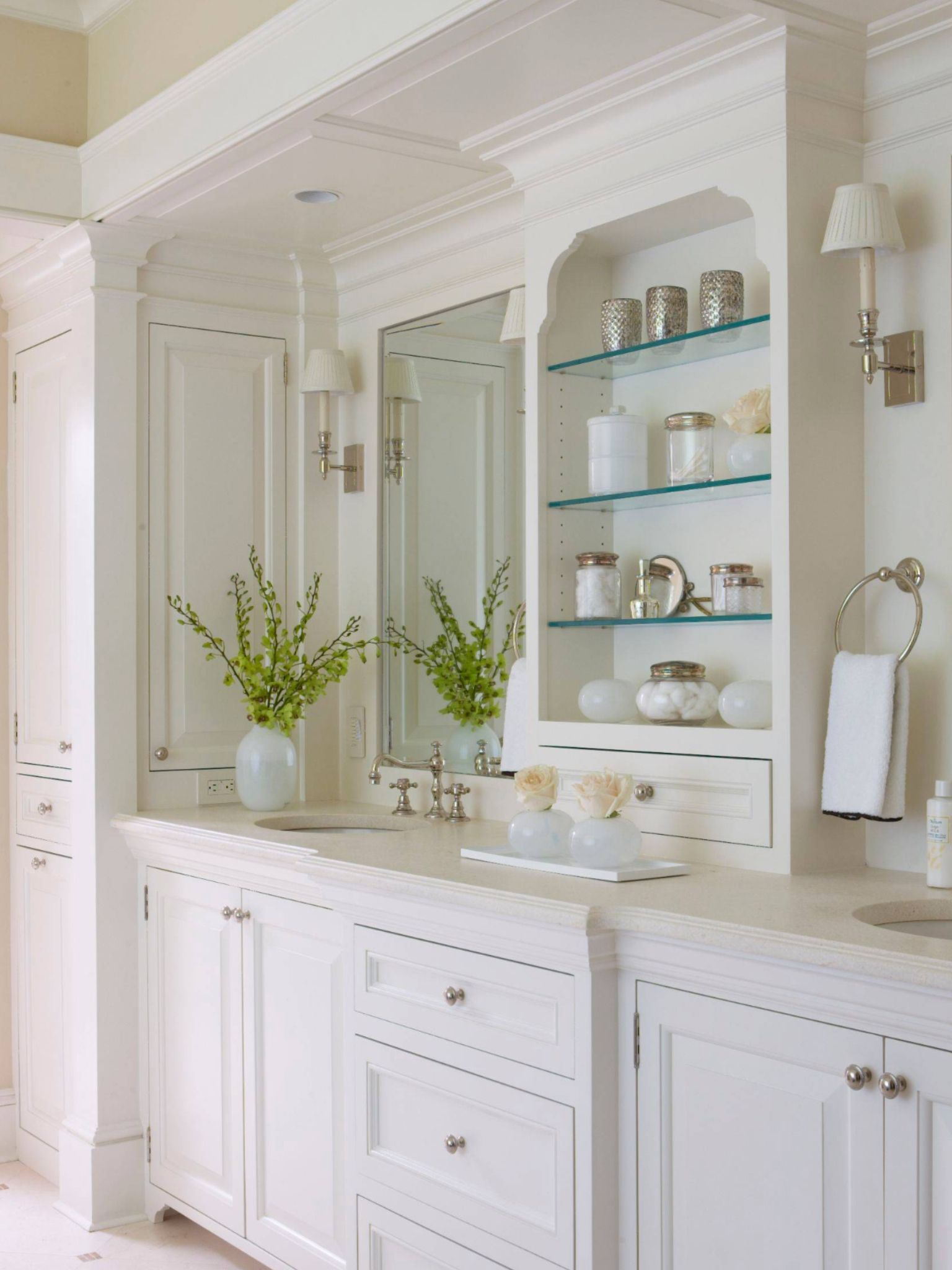 Vanity Cabinets Flush Inset Painted White