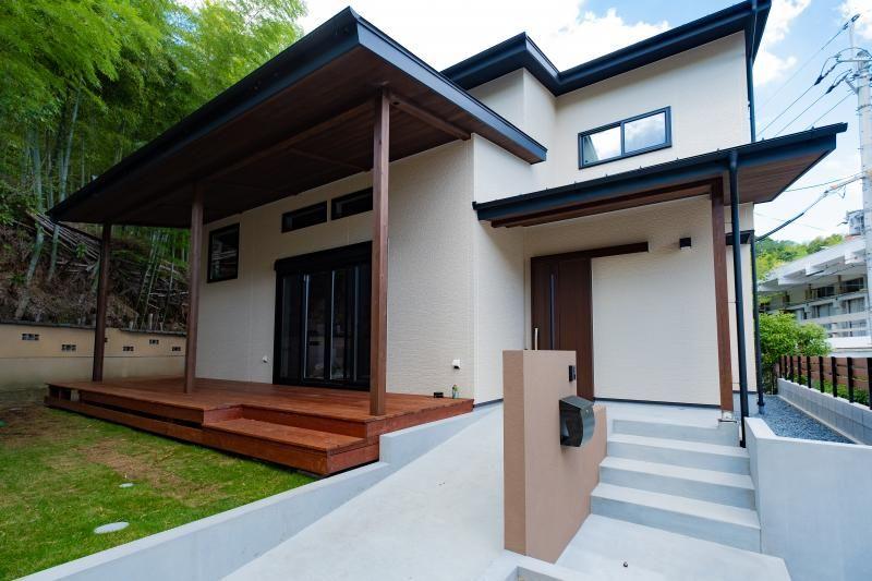 自然の中にゆったりと佇む 和モダンの家 新築 西京区 M様邸 和モダンな家 家 モダン