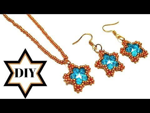 Photo of How to make necklace(pendant) How to make earrings. Beads jewelry making tutorial