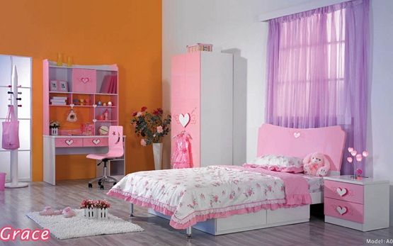 Pink U0026 White Girls Bedroom Furniture And Bedding Sets | Home Interiors
