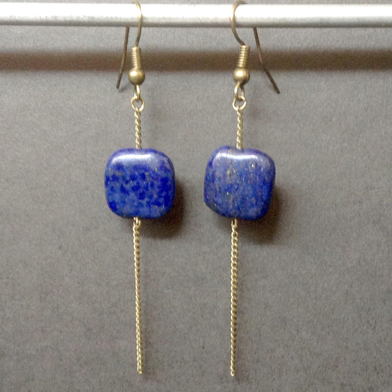 Boucles d'oreilles pendantes pierre semi precieuse