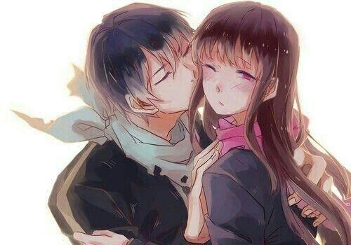 Yato Kissing Hiyori Blushing Cute Noragami Noragami ノラガミ