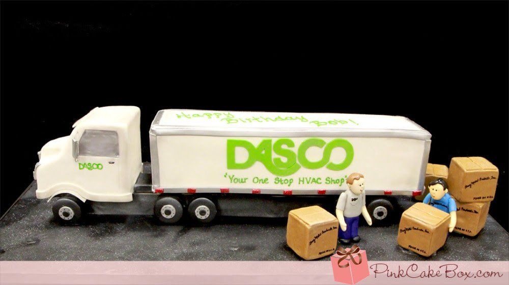 Tractor Trailer Truck Cake Birthday cakes Pinterest Truck