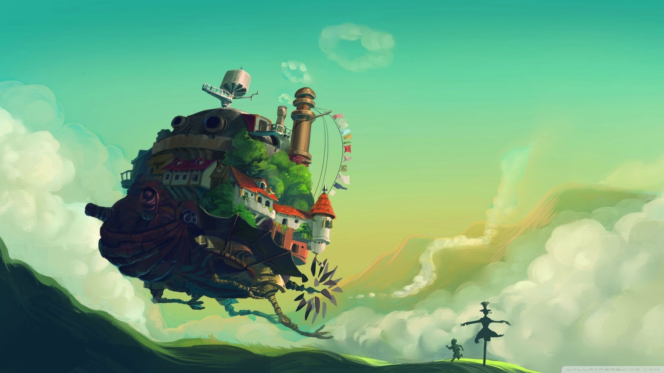 10 Latest Howl S Moving Castle Wallpaper Widescreen Full Hd 1080p For Pc Background Howls Moving Castle Wallpaper Anime Wallpaper Studio Ghibli Art