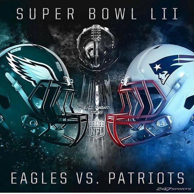 The New England Patriots will face the Philadelphia Eagles in Super Bowl  52!  NEvsPHI 3dccd0f97