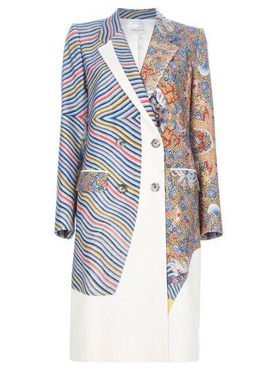 DRIES VAN NOTEN - double breasted print coat 1