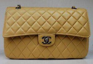 Chanel Handbag 1113 Apricot Sheepskin Silver Chain 1113 Apricot Sheepskin Silver Chanel Bag Chanel Bags