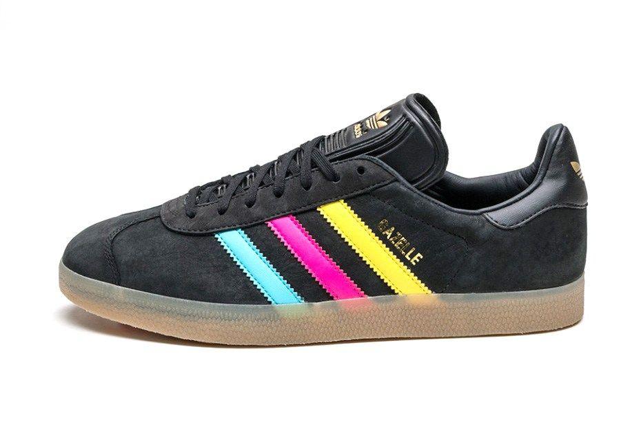 adidas Originals London to Manchester Gazelle Schuhe Blau