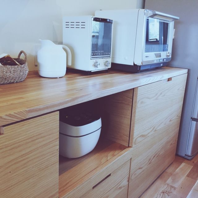 キッチン オーブントースター 電子レンジ 電気ケトル キッチン家電 などのインテリア実例 2016 02 10 14 51 55 Roomclip ルームクリップ キッチン キッチン 家電 オーブントースター