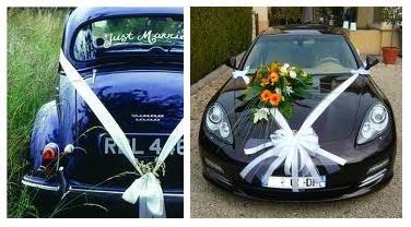 1000 images about voiture on pinterest deco wedding car decorations and cars - Decoration Capot Voiture Mariage