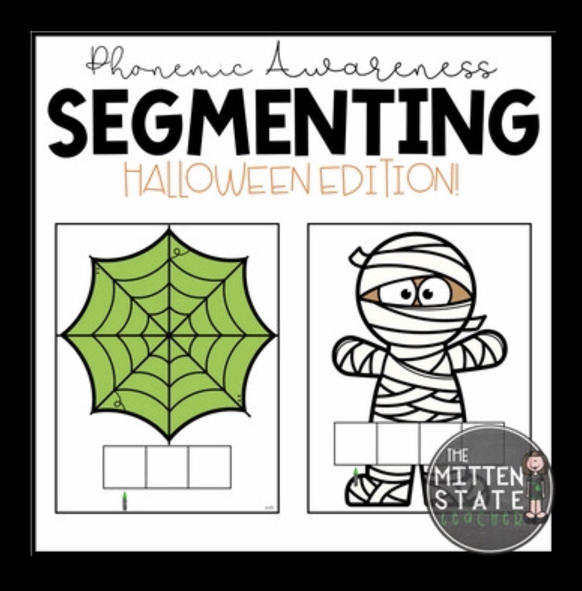 Phoneme Segmentation Activity Mats Halloween Phonemic