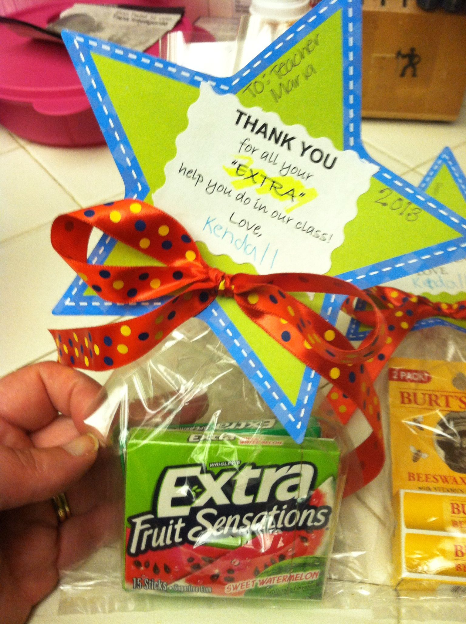 Teacher Appreciation For Aidclass Helper Saying Thank You For