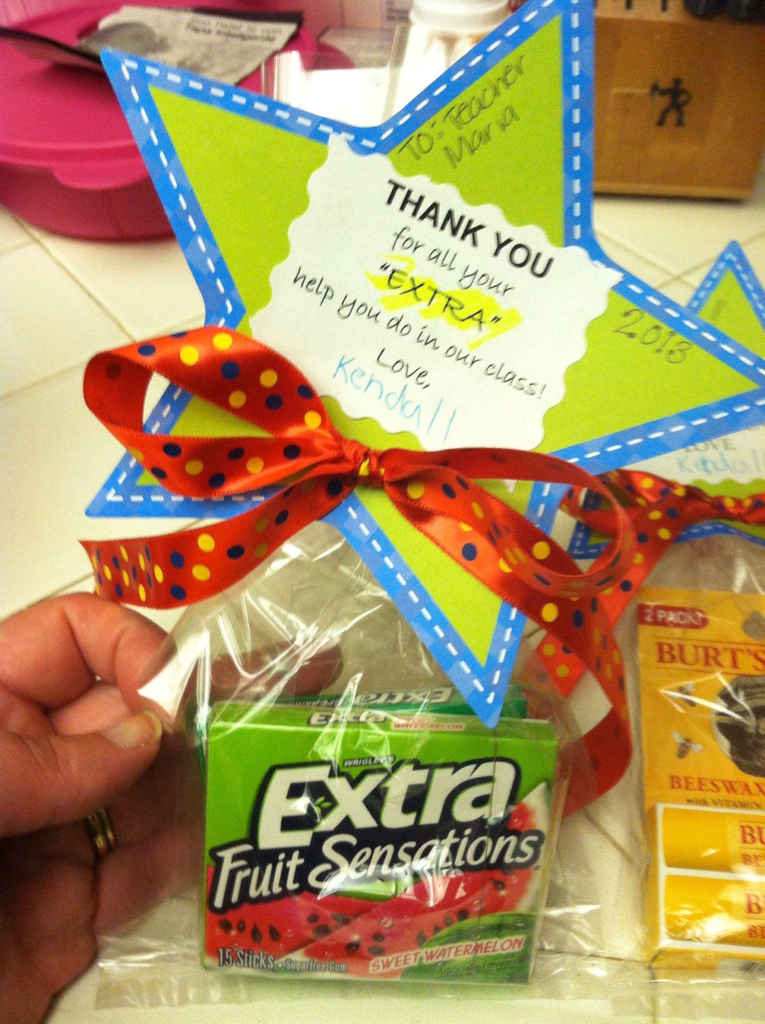Teacher Appreciation For Aid Class Helper Saying Thank