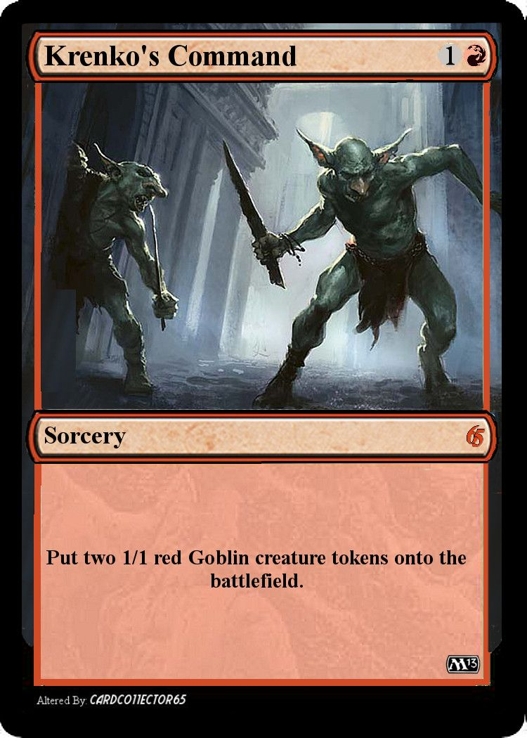 Krenkos command mtg mtg sorcery goblin