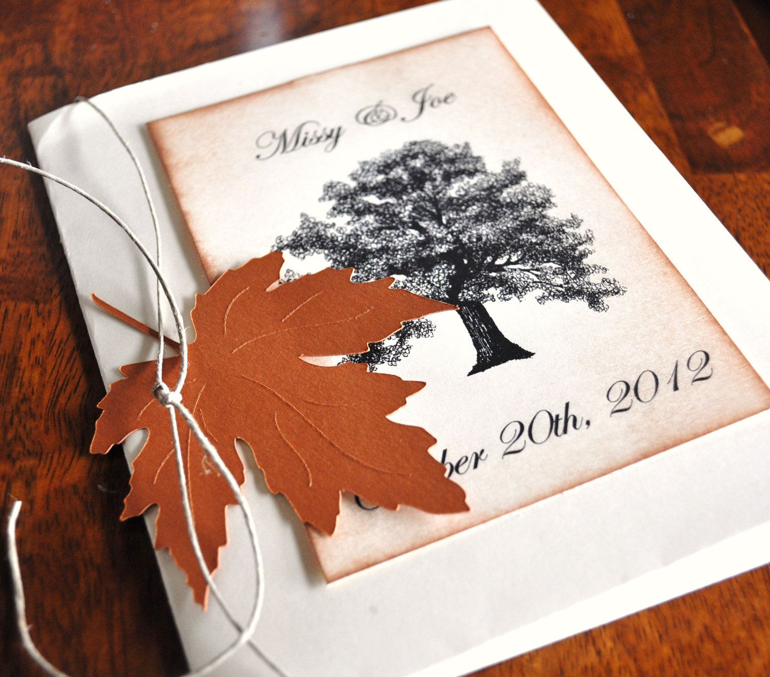 Fall Tree Bride Shower Invitations Custom Wedding Choose Your Leaves Trees