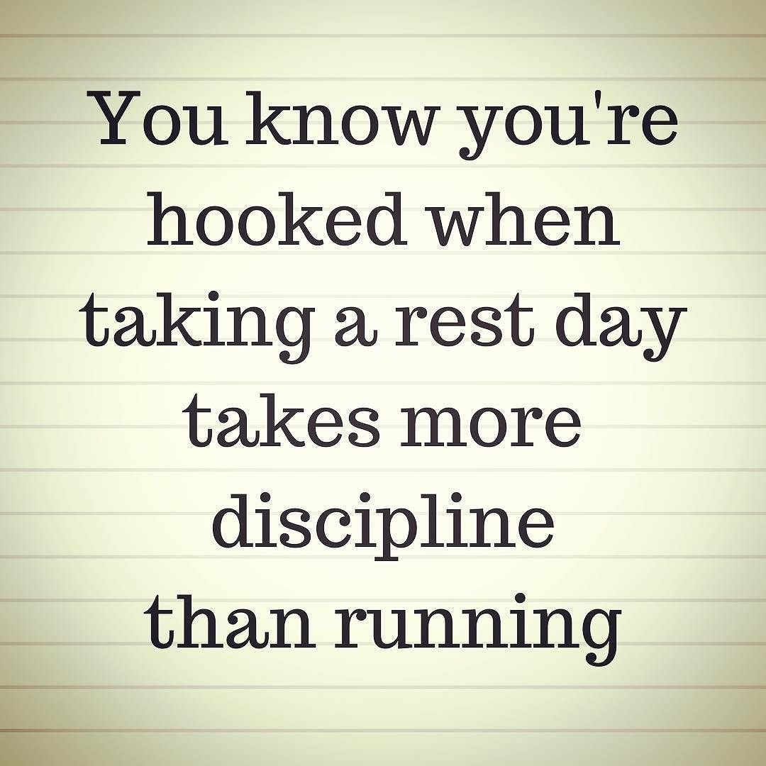 Truth. I was so looking forward to a rest day as my legs were tired. Then rest day came and now I have twitchy legs Never satisfied! I know I know... it's good for me... right?