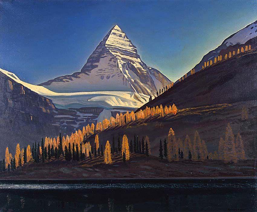 Rockwell Kent. Mount Assiniboine. Canadian Rockies
