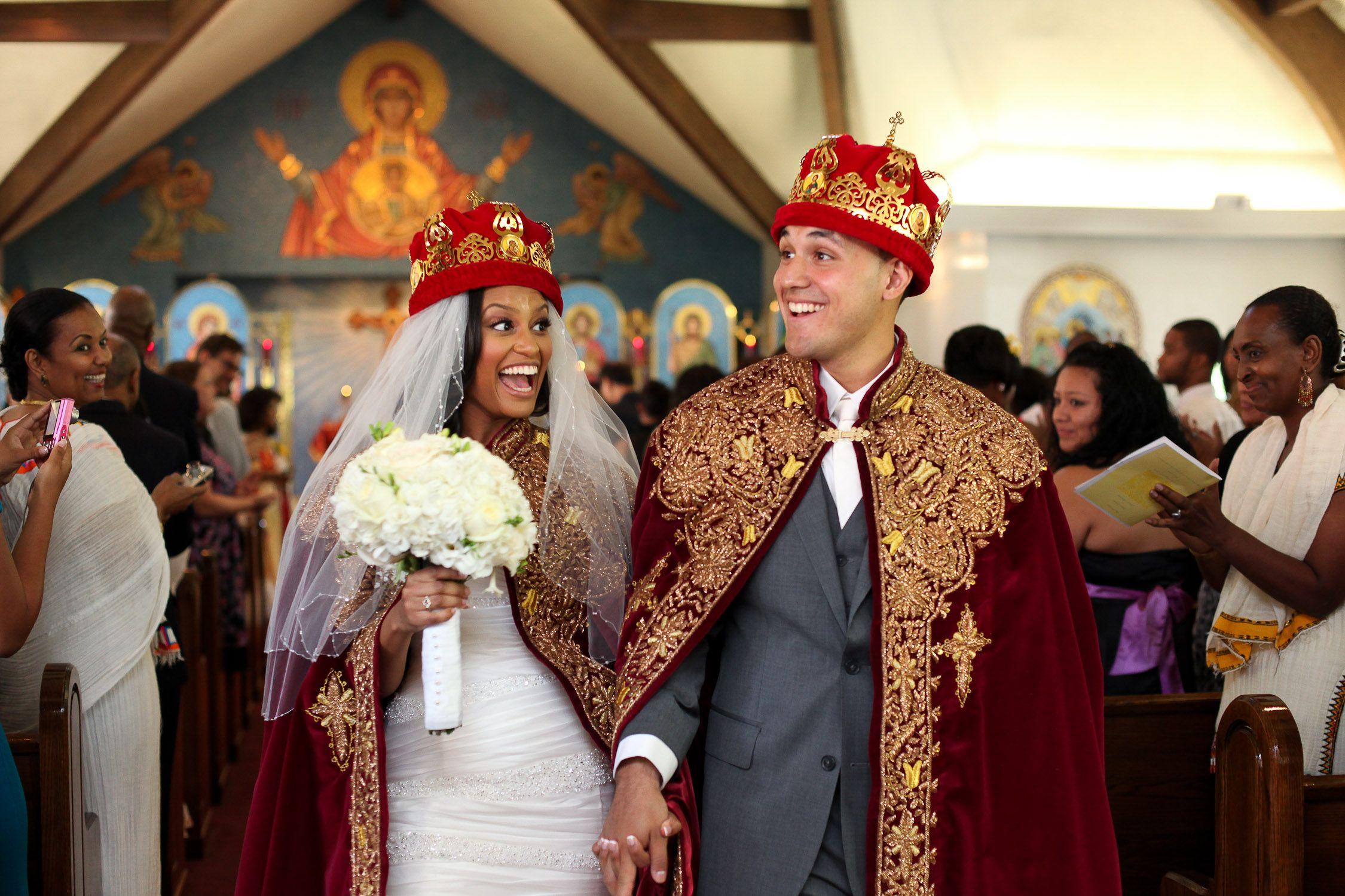 ethiopian wedding dress Fa Mannan Ethiopia Glenview Mansion Maryland Ethiopian Wedding Bridal Party Orthodox Christians crown each other a Greek svayamvara custom