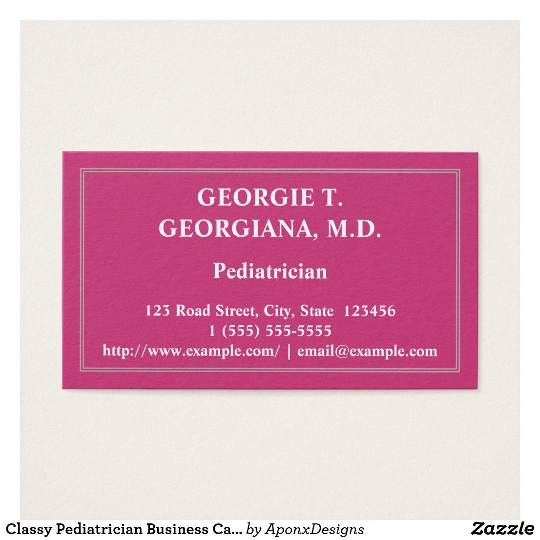 Classy Pediatrician Business Card | Customizable Business Card ...