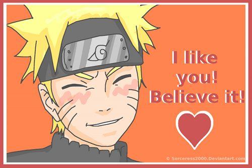 Naruto Valentine's Day Card Anime