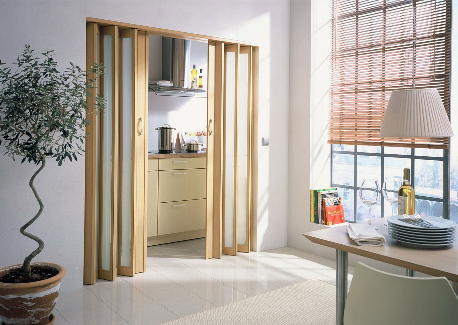 Modern Interior Doors Between The Wooden And Glass One