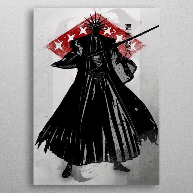 'Crimson Kenpachi' Metal Poster Print - Fanfreak   Displate
