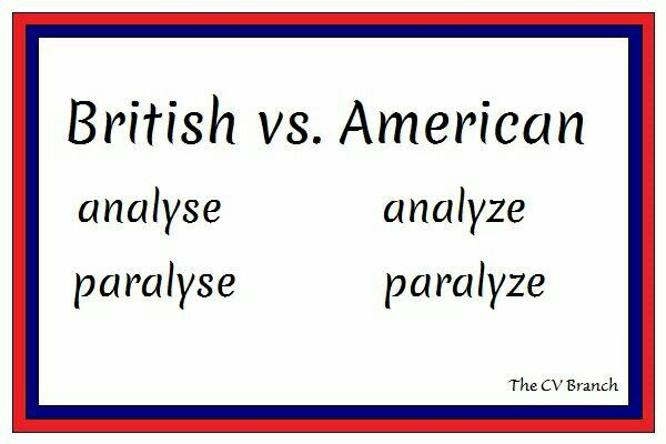 British vs American #spelling #TheCVBranch #professionalCVwriter