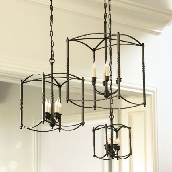 Carriage House Foyer Light : Carriage house chandelier large kitchen makeover