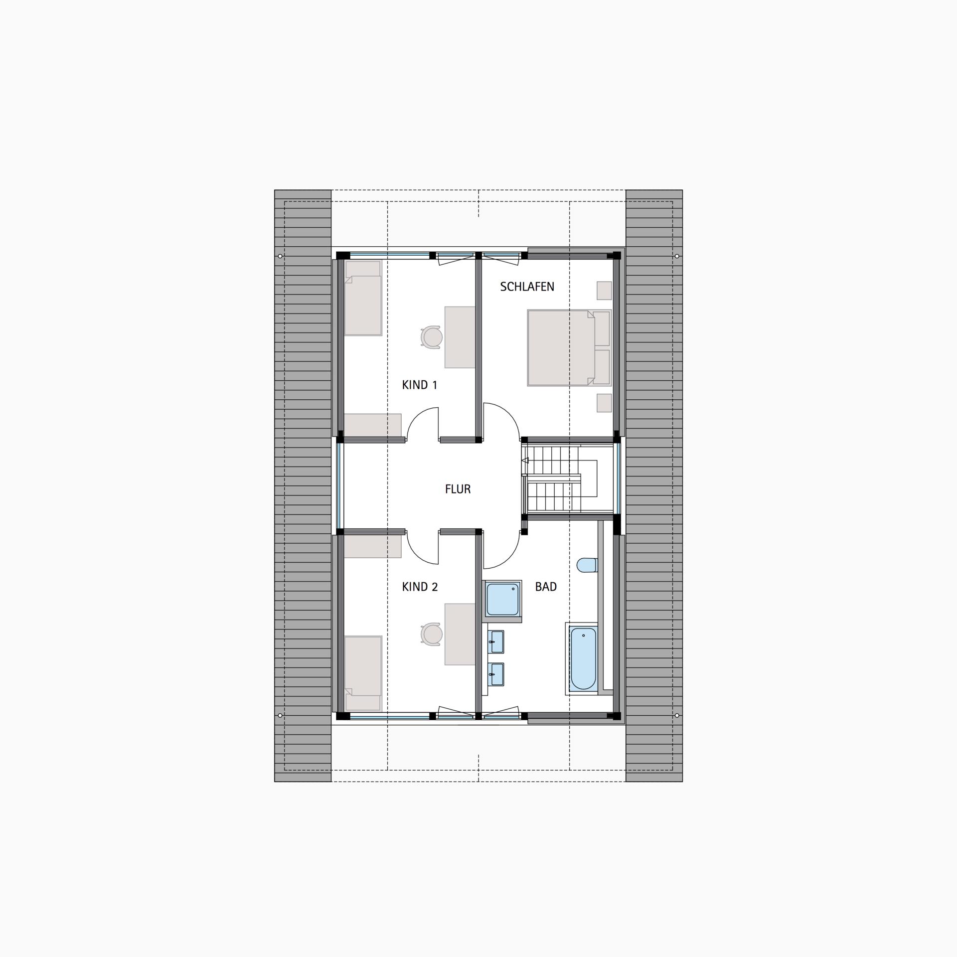 HUF Fachwerkhaus Grundriss Dachgeschoss MODUM 610 Haus