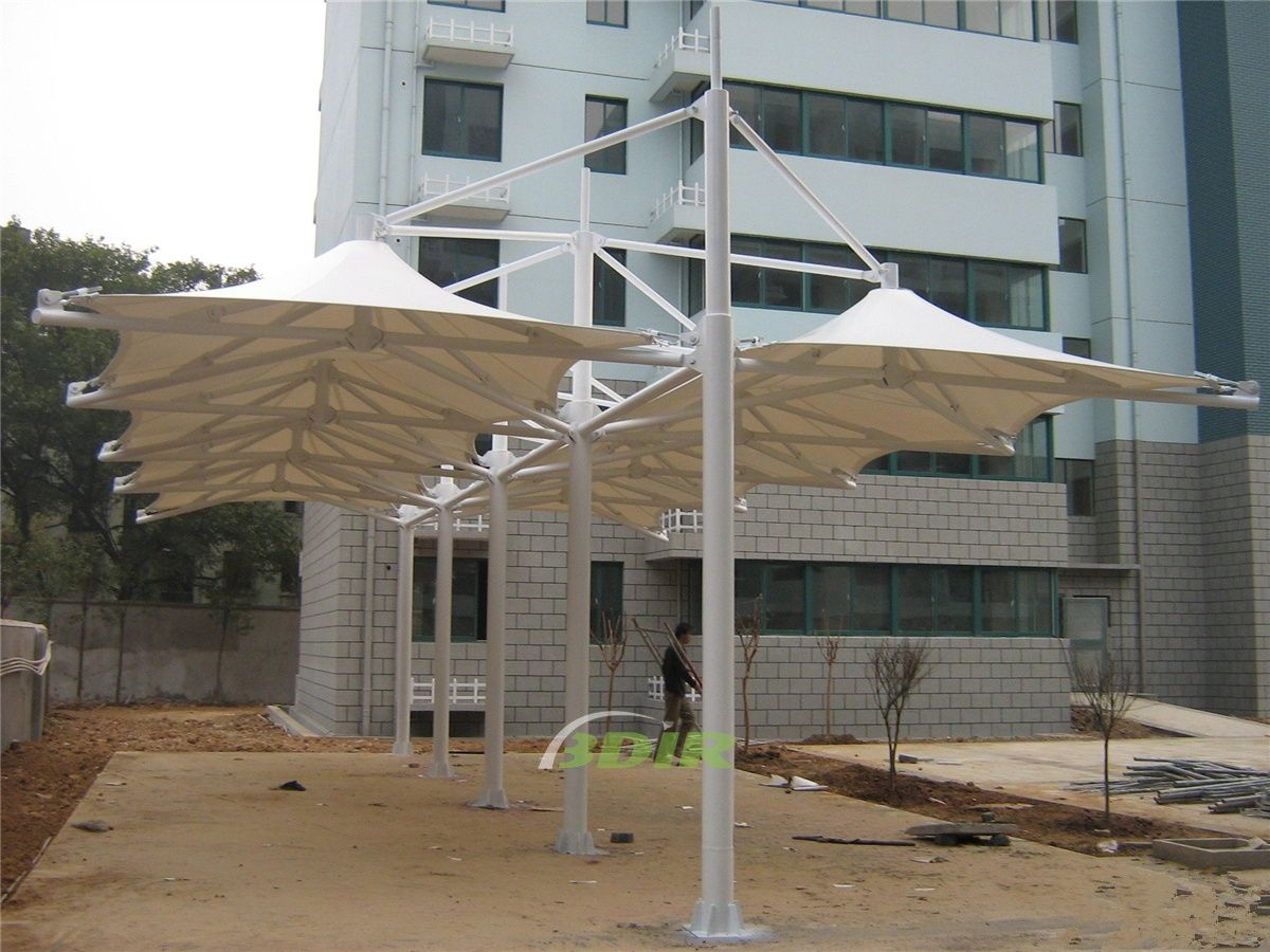Car Parking Lot Shade Structures Can Protect Your Vehicle From Hail As The Knitted Shade Cloth Is A Hail Resistant Roof Shade Structure Awning Shade Dome Tent