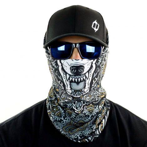 BLACKOUT MEXICO FACE MASK Sun Shield Neck Gaiter Headband Bandana Du Rag SPF40