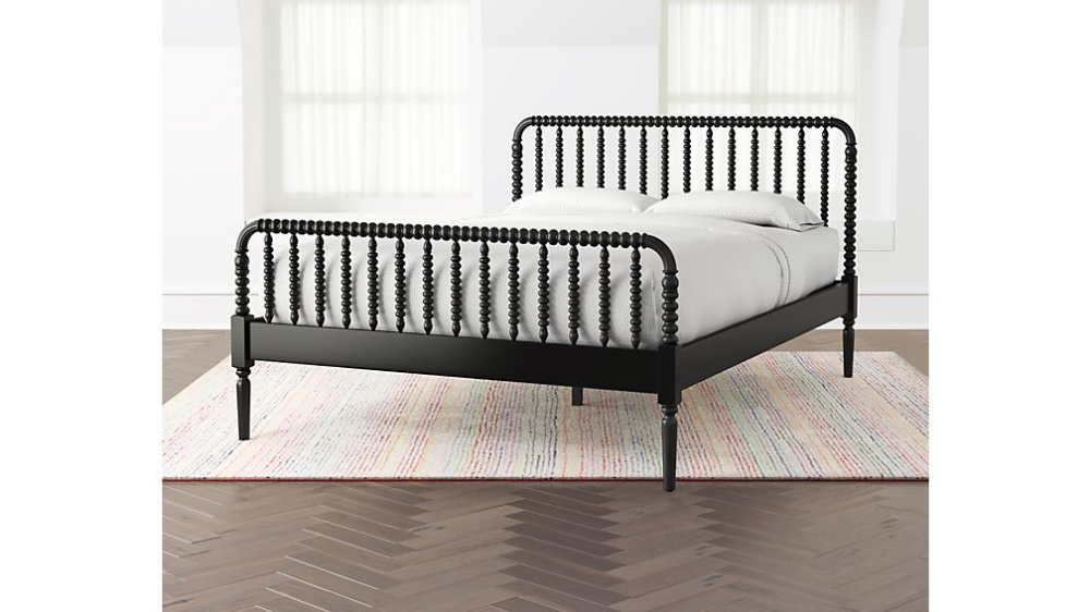 Jenny Lind Black Full Bed + Reviews Crate and Barrel