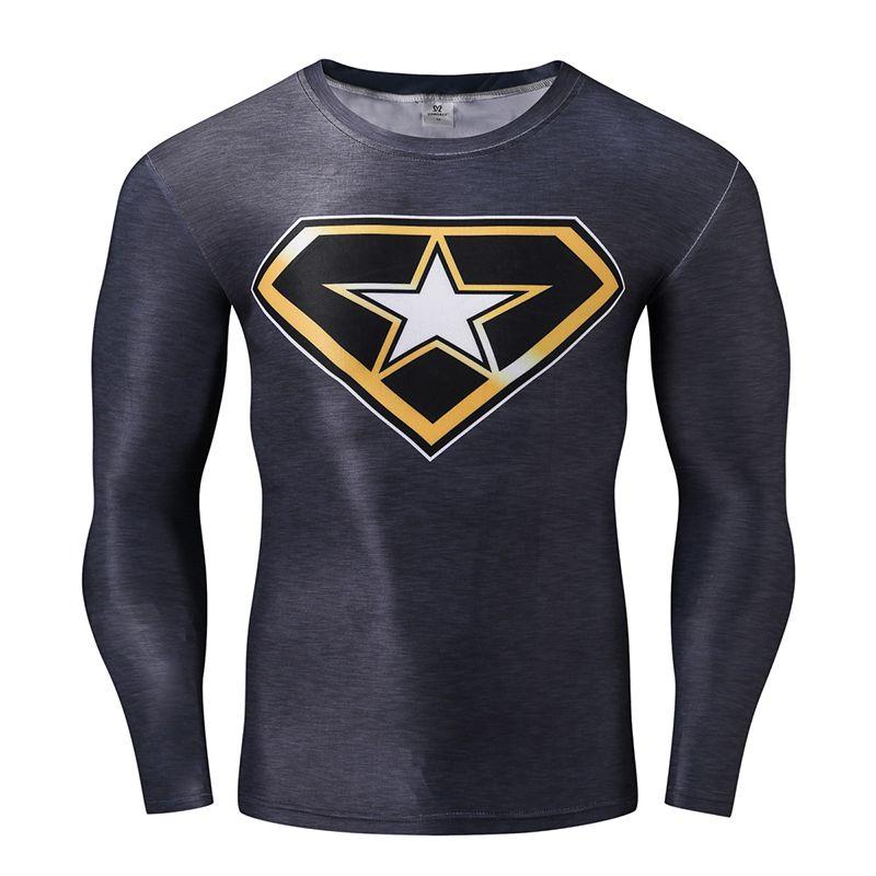 f19af23543 Fashion 3D Printed Batman T-shirt Mens Long Sleeve Tops Mens Fitness  Crossfit Clothing Compression. Camisetas BatmanHomens De CamisetaFitness ...