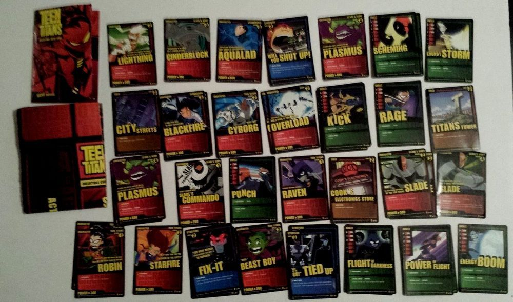 Teen titans trading card game