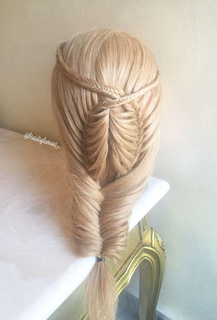 Fishtail braids medium hair ideas pinterest fishtail