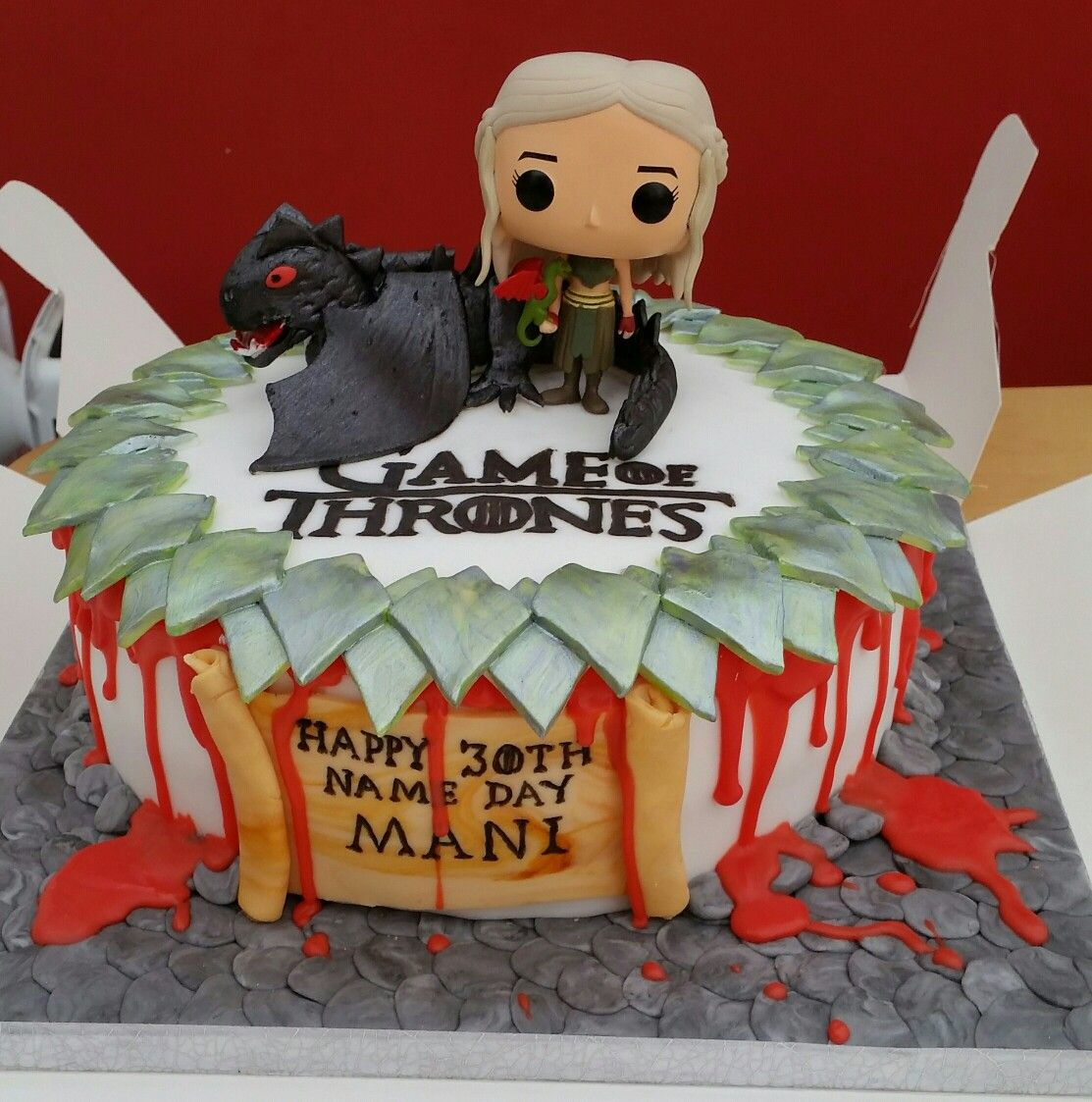 Game Of Thrones Daenerys And Dragon Birthday Cake For The Love Of