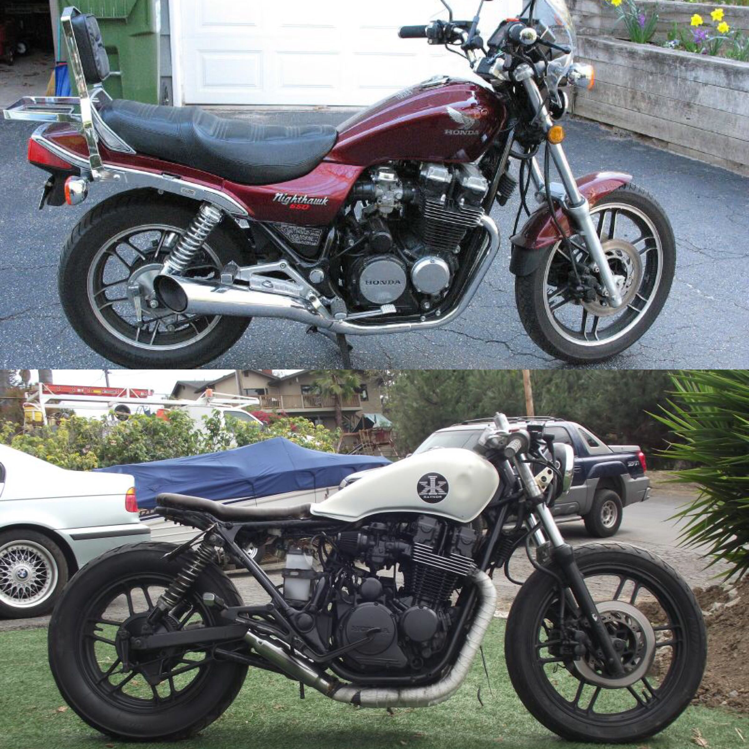 Before & after: 1983 CB650SC Nighthawk | Cafe racer | Cafe racer