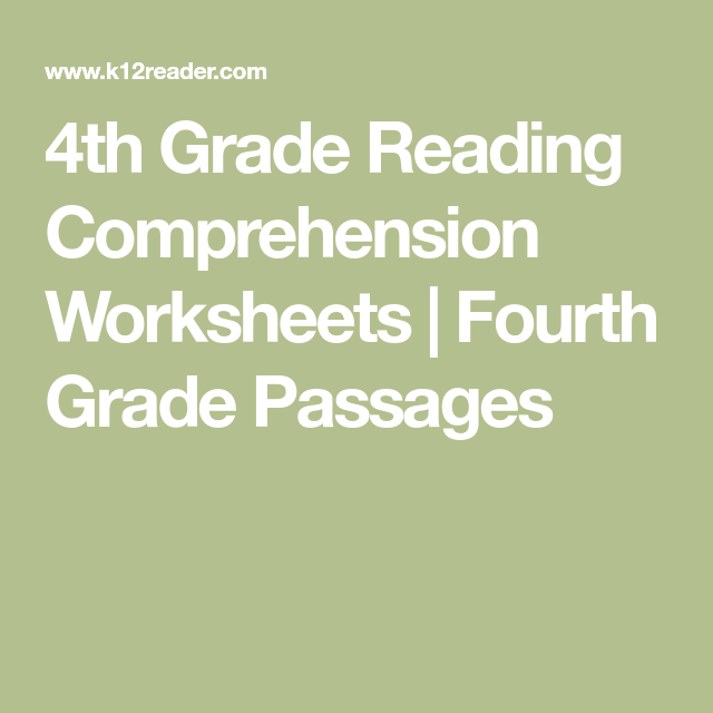 4th Grade Reading Comprehension Worksheets Fourth Grade Passages