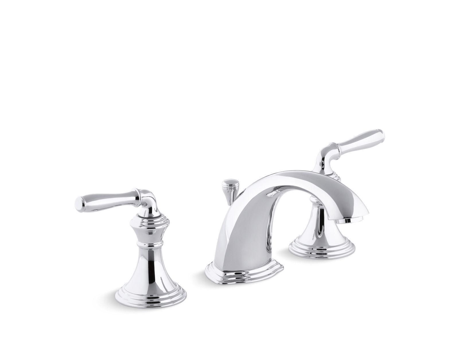 K 394 4 Devonshire Widespread Sink Faucet With Lever Handles Kohler Sink Faucets Widespread Bathroom Faucet Bathroom Sink Faucets
