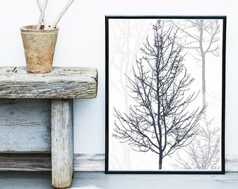 scandinavian art tree print abstract art print tree poster giclee print wall art nordic. Black Bedroom Furniture Sets. Home Design Ideas