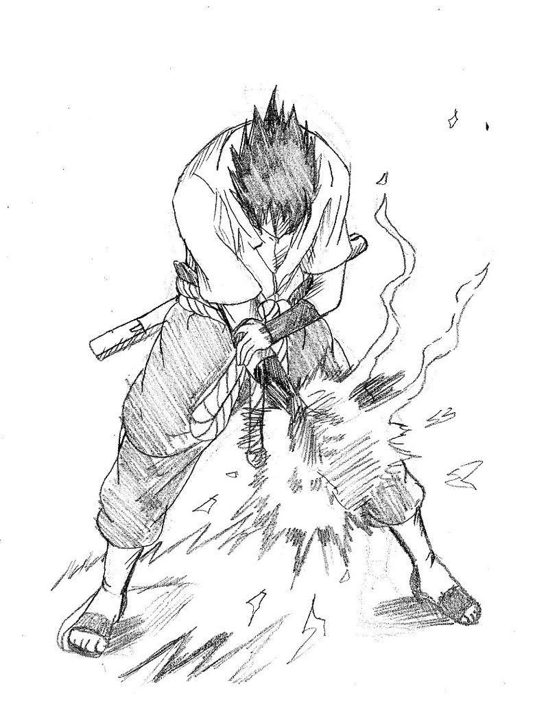 Sasuke Chidori Sketch By Cvsnb On Deviantart Draw Pinterest