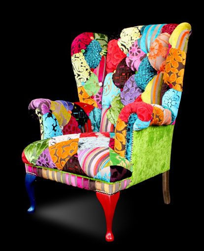 Gorgeous chair in Splash patchwork