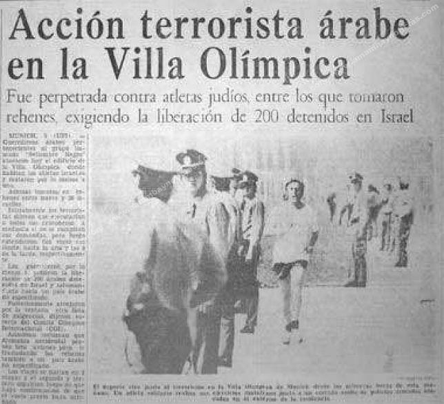 Masacre en las Olimpiadas 1972 contra los atletas israelíes