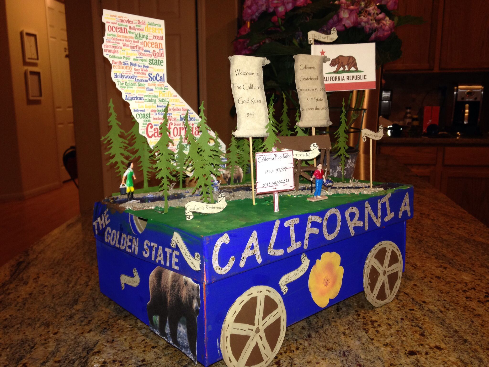 California State Float Project Gold Rush Theme Ed The Cameo Silhouette