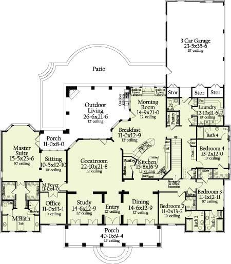 Huge But Gives Some Layout Ideas Trich Allen Bedroom House Plans House Flooring House Floor Plans