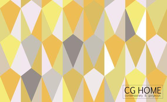 Yellow Geometric Peel Stick Removable Honey Wallpaper By Cghome Geometric Diy Wallpaper Wallpaper