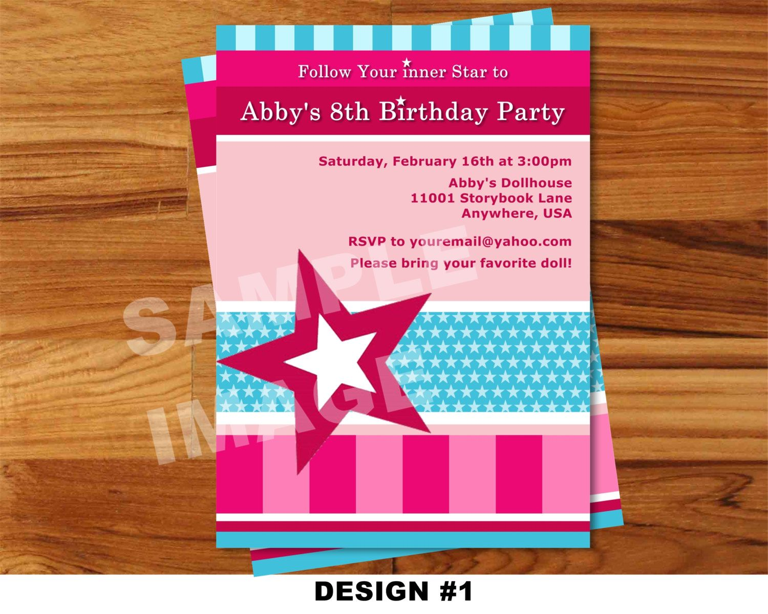 American Girl Birthday Invitations Free Printable