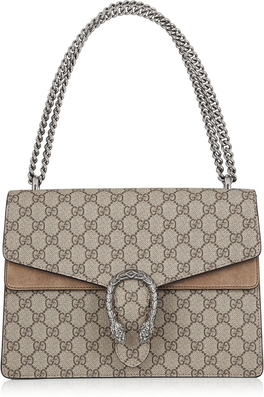 8ef7027689d5 Gucci | Dionysus coated canvas and suede shoulder bag | NET-A-PORTER.COM